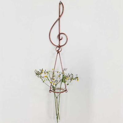 높은음 1단 황동수공예 수경식물 장식 유리 꽃 화병