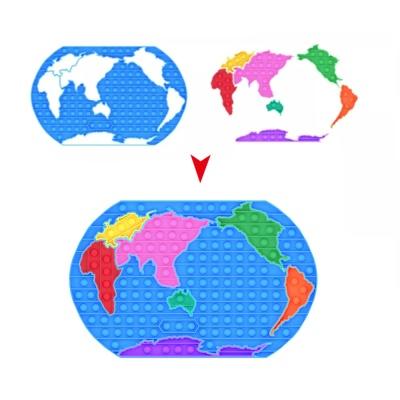세계지도 퍼즐 팝잇 대왕 푸쉬팝 버블 뽁뽁이 장난감