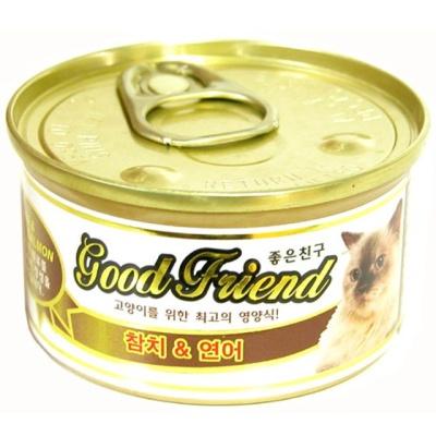 굿프렌드 참치 연어 캔 85g 고양이 단백질 영양식