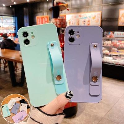 아이폰12 PRO MAX 파스텔 컬러 손잡이 스트랩 케이스