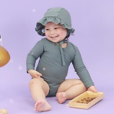 [메르베] 멜로우 스윔슈트 빈티지그린 아기 수영복