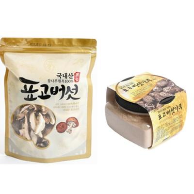 [참나무] 표고버섯 슬라이스 80gx2봉+분말 100gx2봉