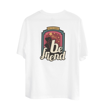 유기묘 유기견 기부 티셔츠 MOONLIGHT 화이트
