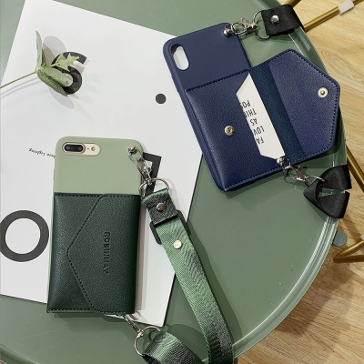 아이폰11 PRO SE2 XR X 8 7 가죽 지갑 목줄 폰케이스