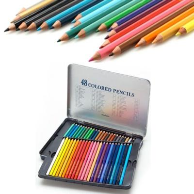 문화 48색 틴 색연필