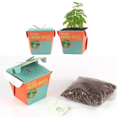홈가드닝 바질씨앗 화분 흙 세트