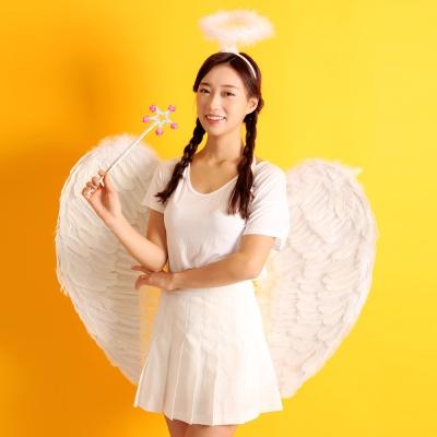 천사날개 머리띠 천사봉 세트 (초대형)
