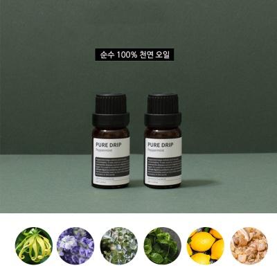 퓨어드립 내추럴 에센셜 아로마 오일 10종 향기테리피