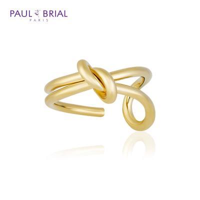 폴브리알 POBR0143 (YG) 언발 꽈배기 반지