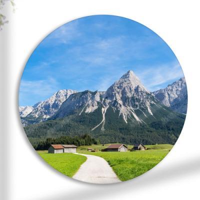 tg463-원형아크릴액자_멀리보이는시골풍경