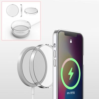 아이폰 맥세이프 무선충전기 투명 클리어 하드 케이스