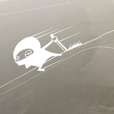 차량 파손 닌자스티커 데칼시리즈  긁힘 닌자스티커