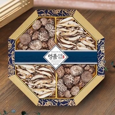 [품격담은] 팔각 한지함 표고버섯 선물세트