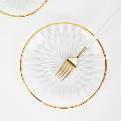 골드라인 오션 크리스탈 접시 19cm