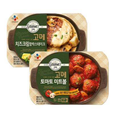 CJ 토마토미트볼x5개+치즈크림함박스테이크x5개