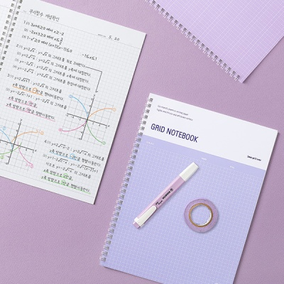 (8종세트) 컬러에너지노트북그리드B5+슬림볼펜8종증정