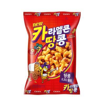 크라운 카라멜콘 땅콩 과자 (대) 170g