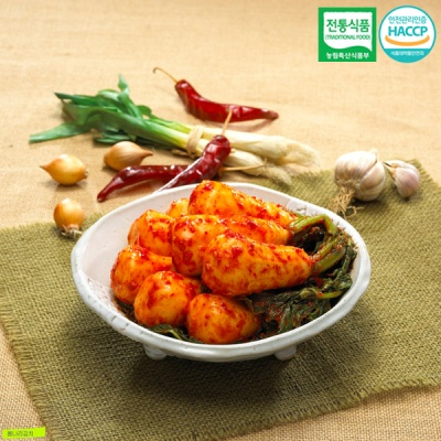 [명가김치] 전통식품인증 100% 국내산 총각김치 10kg