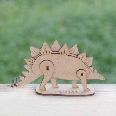 3D입체퍼즐 나무퍼즐 스테고사우루스 공룡 만들기 수업 놀이키트 장난감 집콕놀이 취미