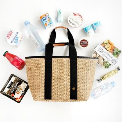 Bonjour Rattan cooler bag_Tan L (라탄 쿨러백)