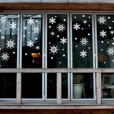 제제데코 크리스마스 눈꽃 스티커 장식 CMS4J011