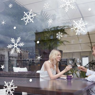 제제데코 크리스마스 눈꽃 스티커 장식 CMS4J220