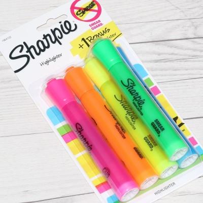 대용량 형광펜..샌포드 샤피 하이라이터 4+1 F114-2