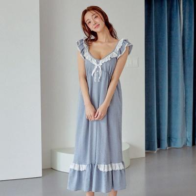 [쿠비카]3중밴딩 러블리 레이스 원피스 여성잠옷 W757