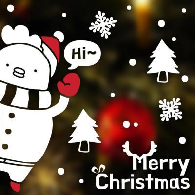 제제데코 크리스마스 눈꽃 스티커 장식 CMS4J225