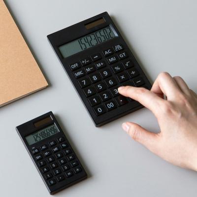 단순생활 데스크 전자계산기 블랙