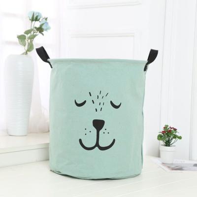세탁물 이동식 바구니 세탁 빨래 예쁜 바스켓 민트