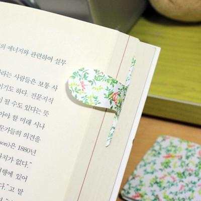 [플라스틱 and 자석 자동책갈피수지인] 써니패턴(나뭇잎)