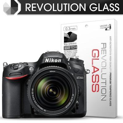 [프로텍트엠/PROTECTM] 레볼루션글라스 0.3T 강화유리필름 방탄액정보호 2장 디지털 카메라 CAMERA 니콘 NIKON D7200