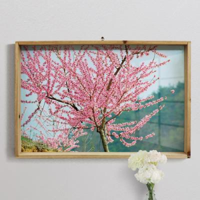 pj290-우드프레임액자_복숭아나무