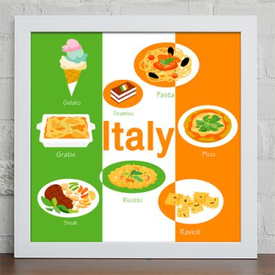 cw067-세계의특별한밥상_이탈리아_인테리어액자