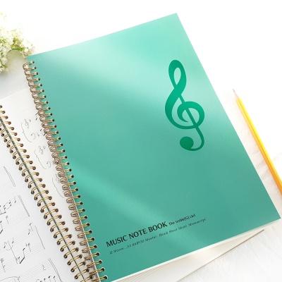 A4 음악노트(작곡노트,오선노트) 60매 - 높은음자리표