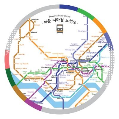 [한국폼텍] 서울을 홍보하자~My Sticker 캐리어 스티거-지하철 노선도 2매/입 MS-1005