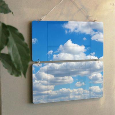 nn299-멀티아크릴액자_푸른하늘과뭉게구름(2단)