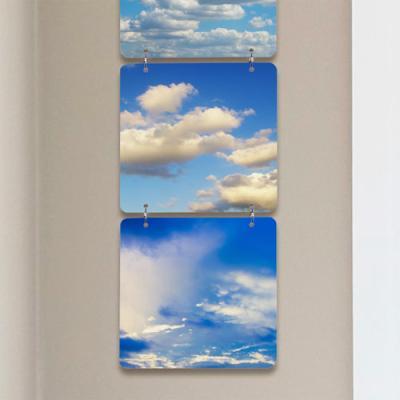 nn298-멀티아크릴액자_푸른하늘과뭉게구름(4단소형)