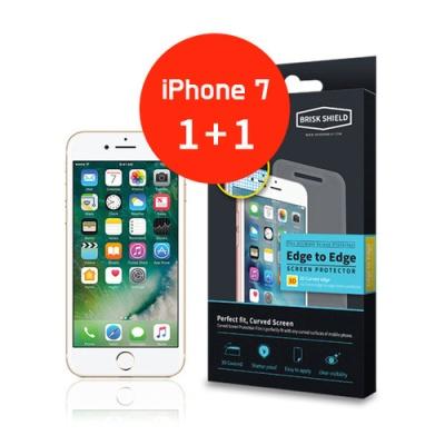 브리스크쉴드 아이폰 7/7S 충격흡수 3D풀커버 프리미엄 액정보호필름(2개 1세트)