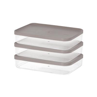 주방 냉장고수납 음식물 식재료 반찬 보관용기6호 3팩