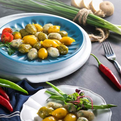 채식웰빙 3색 새알 야채만두 1kg+야채손만두 1.4kg