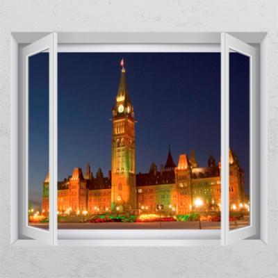 ih293-캐나다의 국회 의사당_창문그림액자_뮤럴시트지