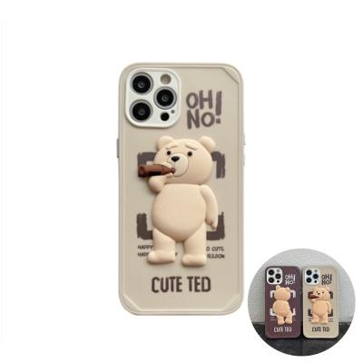 아이폰12 미니 11 pro max 곰돌이 입체 캐릭터 케이스