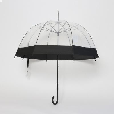 파라체이스 1005 여성 투명 아치형 수동 장우산