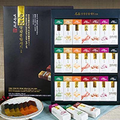 밀양한천 양갱 종합선물세트 45gX21개입 쇼핑백포함