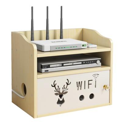 PH 목재 DIY 와이파이 공유기 셋톱박스 정리함