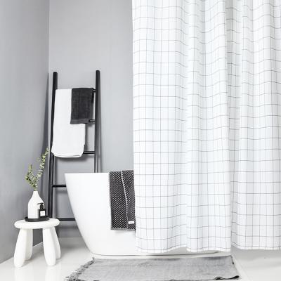 욕실 화장실 패브릭 샤워 방수 커튼 (화이트 120x180)