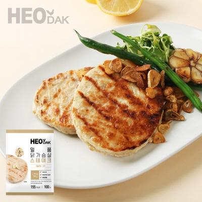 [허닭] 일품 닭가슴살 스테이크 갈릭맛 100g