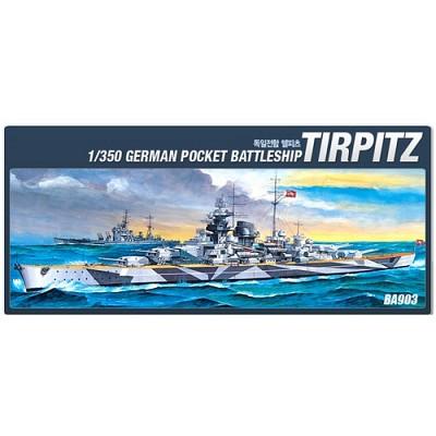 (아카데미과학 ACBA903) 1/350 독일전함 텔피츠 (14111) 전함 군함 프라모델